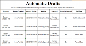 The Art of Love & Money Automatic Drafts