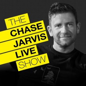 Chase Jarvis Facial Photo with The Chase Jarvis Live Show Text higlighted in yellow