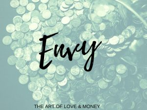The Art of Love & Money Envy coins with green tint